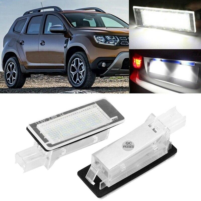 Автомобильный светодиодный светильник номерного знака для Dacia Duster 10-15