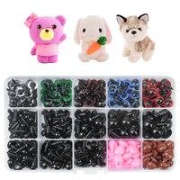 Ojos de DIY para muñecas para oso de peluche, Ojos de plástico negro de 4-18mm, 200-730 Uds., accesorios para manualidades DIY
