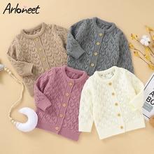 Baby Autumn Sweater Knitted Cardigan Jacket Girls Boys Warm Sweater Coat with Button Children Versatile Sweaters Suéter Свитер