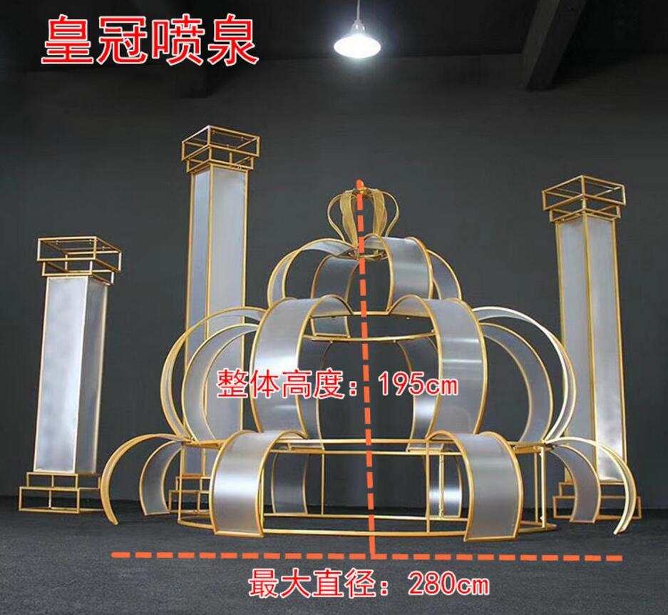 Nouveau accessoires de mariage fer art film arc romain mariage fond décoration guide centre commercial