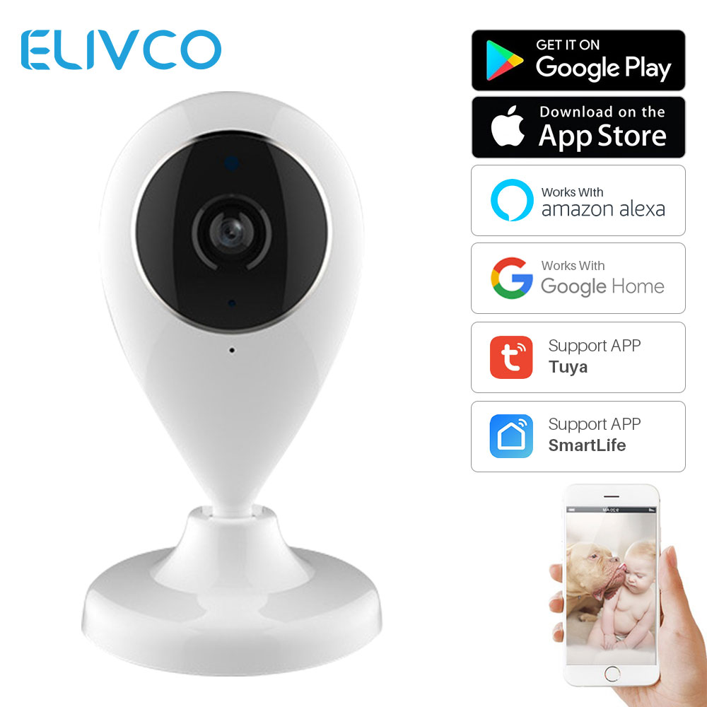 WiFi IP Camera Wireless Smart Home Security Surveillance SmartLife APP Control Two Way Audio Works With Alexa Echo Google Home