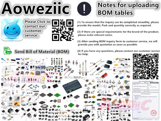 Aoweziic BOM Professional electronic components one stop BOM table matching model service (please inquire model price, purchase)