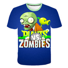 Game Pattern Plants Vs Zombies Wars Boys T-shirts Kids Girls Sweatshirt Children T shirts Boys Clothing Summer Short Sleeve Tops children s clothes plants vs zombies wars t shirt boys t shirt kids cartoon tshirt baby girls boys clothing summer cool tops tee