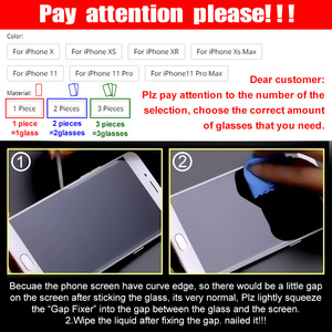Image 5 - 3Pcs מלא כיסוי מזג זכוכית על עבור iPhone 11 פרו מקסימום מסך מגן iPhone X XR XS מקס מגן זכוכית סרט מעוקל קצה