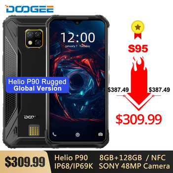 DOOGEE S95 IP68 Modular Rugged Mobile Phone 6.3'' Display Helio P90 Octa Core 6GB 128GB 48MP Triple Camera Android 9.0 5150mAh