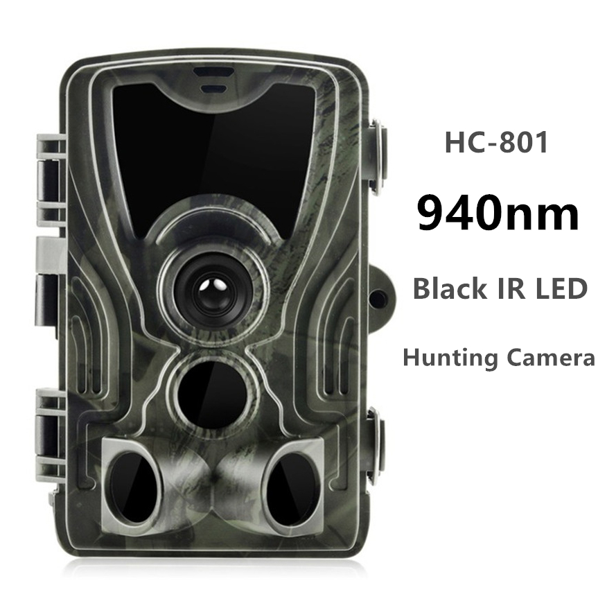 Goujxcy HC801 Trail Camera 16mp 1080p No Glow 940nm Infrared LED Hunting Camera Night Vision Photo Traps Waterproof Camera Scout