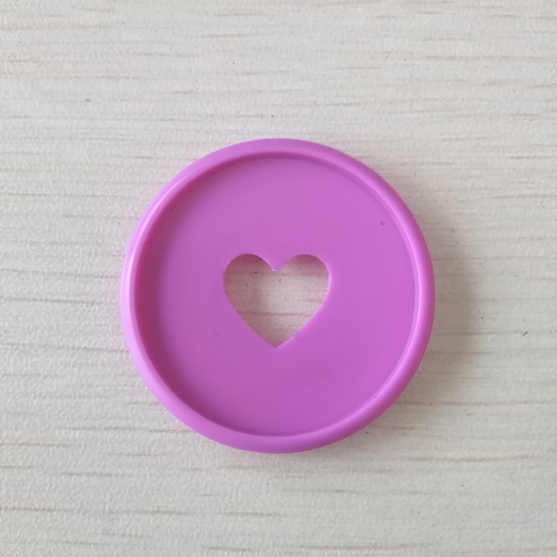 100pcs Heart Notebook Mushroom Hole Button Notepad Plastic Loose leaf Coil 360 Degree Foldable Disc Buckle Office Supplies