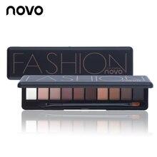 Палитра теней для век novo 10 цветов матовые тени телесного