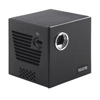 Mini DLP Projector C80, Android 7.1.2OS WIFI for Home Cinema, Portable Beamer LED Video Projector HD with Battery Us Plug