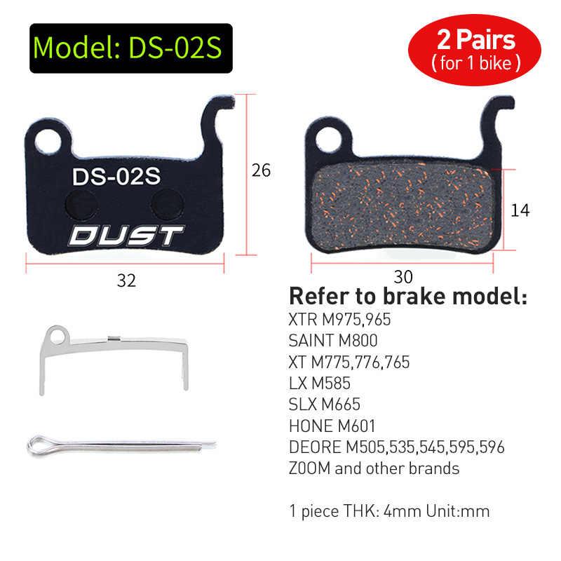 2 pairs (4 sztuk) rowerowy hamulec tarczowy Pad rower hydrauliczny hamulec tarczowy klocki pół-metaliczny hamulec rowerowy klocki dla BB5 BB7 Avid SRAM