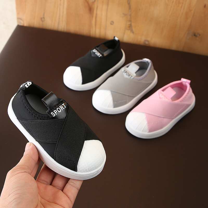 2019 Spring Baby Girl Boy Casual Shoes Infant Toddler Shoes Elastic Fabric Soft Bottom Children Kids Outdoor Shoes