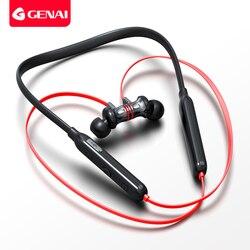 GENAI Bluetooth dans l'oreille casque Sport sans fil écouteur écouteurs magnétiques en cours d'exécution 12 heures longue durée de vie de la batterie réduction du bruit stéréo