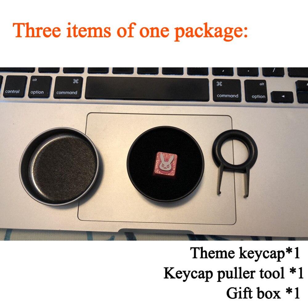 Keyboard keycaps 1 Galvanized Aluminum Keycap for Mechanical Keyboard Logo Three-Dimensional Embossed Keycap R4 Height