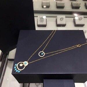 Image 4 - 2020 nuovo arrivo Marocco verde collana di perle di cristallo di marca originale elegante delicata collana della ragazza delle donne