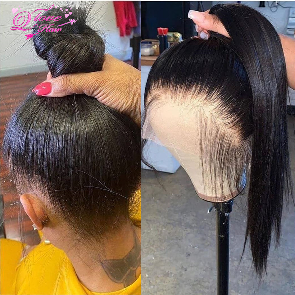 Full Lace Straight Wigs Brazilian Wig For Women Lace Frontal Wigs Human Hair With Baby Hair Glueless Full Lace Wigs 150% Density