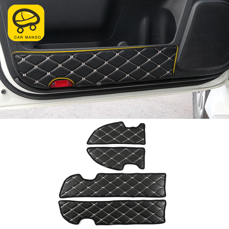 CarManGo pour Toyota Land Cruiser Prado 150 2010-2019 couverture de porte de voiture en cuir Anti-coup de pied garniture cadre autocollant accessoire intérieur