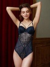 ملابس داخلية للنساء مكونة من حمالة صدر وكأس سفلي مبطن ورقيق من الخلف ملابس داخلية للنساء