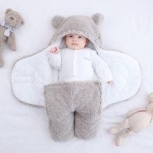 Blanket Receiving Sleeping-Bag Swaddle Wrapped Newborn Winter Baby-Boys-Girls Velcro