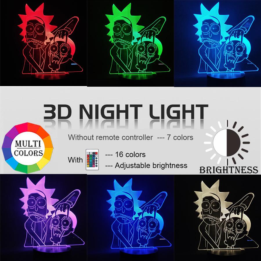 LED 3D Cartoon Lamp