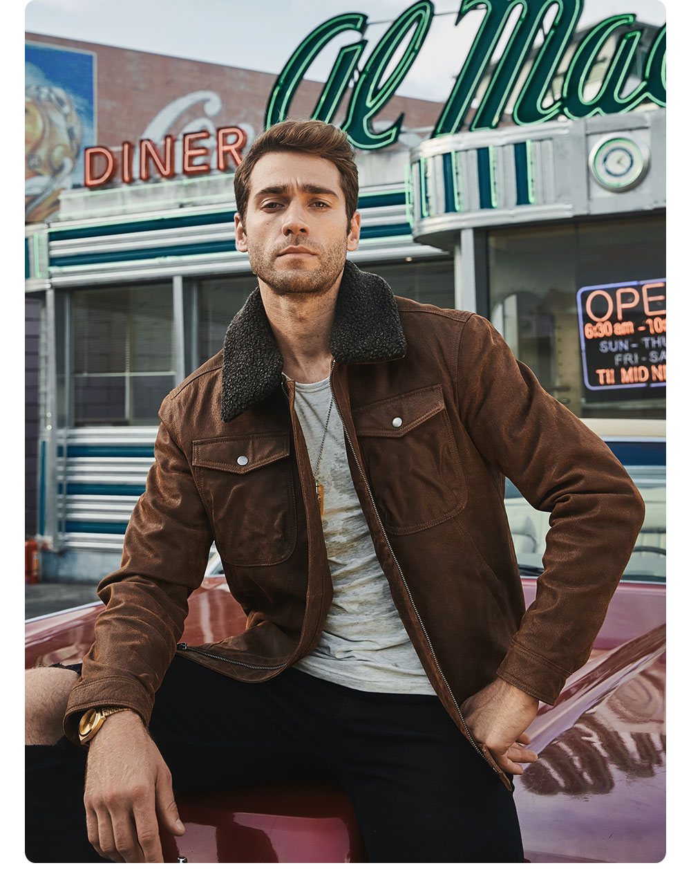 H6ba6697948334cdf90a5f8d6685c4991v FLAVOR Men's Real Leather Jacket Genuine Leather jacket with faux fur collar male Motorcycle warm coat Genuine Leather Jacket