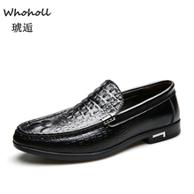Whoholl Beand Genuine Leather Men Casual Shoes Luxury Brand 2019 Mens Loafers Moccasins Breathable Slip On Black Driving Shoes fashion leather shoes men casual shoes luxury brand 2019 mens loafers moccasins breathable slip on black driving shoes man flats