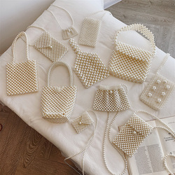 Marca mão-tecido pérola sacos senhora frisado bolsa de ombro feminina festa vintage bolsa ins pequeno saco de aba mini cruz corpo saco 2019