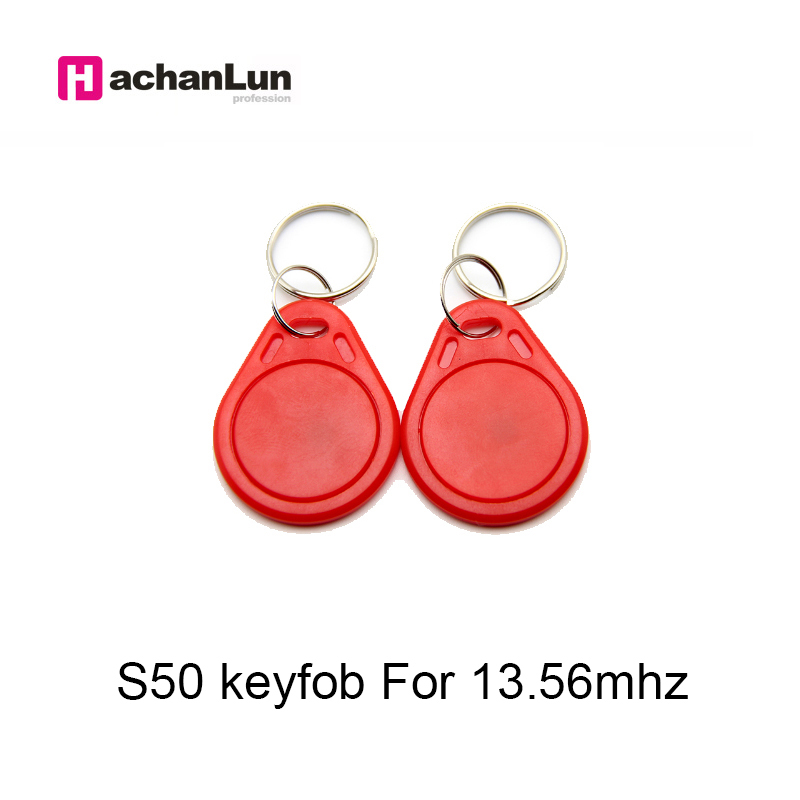 5/10pcs 13.56MHz IC M1 S50 RFID Keyfobs Tags   Keychain ABS Waterproof Key Badge Card Token Attendance Management