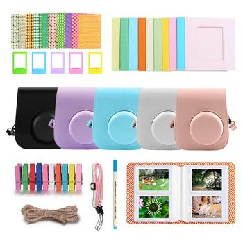 цена на Besegad 40PCS Genuine White Edge Fuji Fujifilm Instax Mini 11 Film Camera Accessories For Mini 11 Instant Cameras case Set
