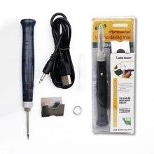 Mini Tragbare USB 5V 8W Elektrische Powered Lötkolben Stift/Spitze Touch Schalter Einstellbar Elektrische Lötkolben Werkzeuge