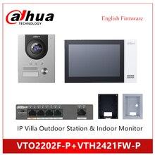 Dahua VTO2202F-P VTH2421FW-P IP Villa Outdoor Station Indoor Monitor IP Kit doorbell support POE video doorbell accessory