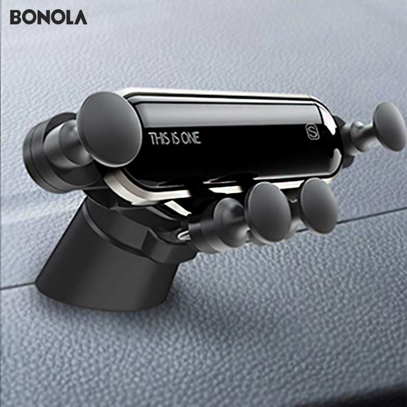Bonola Telescopic Phone Car Holder Gravity Linkage Handy Car Phone Holder Small Mobile Phone Navigation Stand In The Car