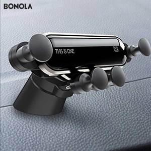 Image 1 - Bonola Teleskop Telefon Auto Halter Schwerkraft Verknüpfung Handliche Auto Telefon Halter Kleine Handy Navigation Stehen In Die Auto