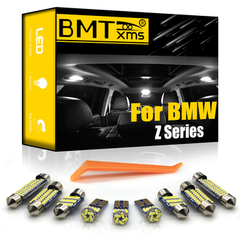 BMTxms For BMW Z3 E36 Z4 E85 E86 E89 Coupe Convertible Car LED Interior Dome Map Trunk Glove Box Vanity Mirror Light Kit Canbus image