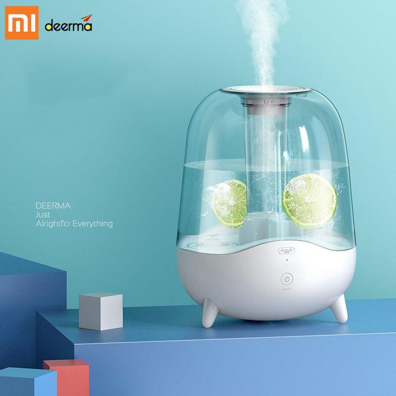 Novo 2019 xiaomi deerma 5l aroma difusor umidificador de ar ultra sônico óleo essencial névoa criador purificar filtro poeira DEM-F325