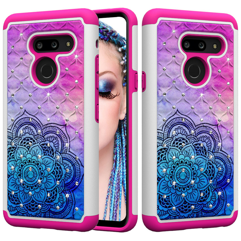 Luxury Bling Diamond Case For LG K30 2019 K40 K12 Plus V40 G7 G8 Thinq Q7 Plus X Power 2 X320 Phone Cases Back Cover Fundas Capa