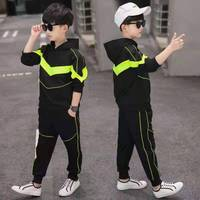 4 13 Kids 2019 Spring Boys Outfits Tops Coats+Pants Suit Children New Fashion Clothes Autumn Casual Sport Shool Boys 2 Pcs Set