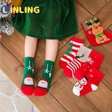 Boys Crew-Socks Christmas-Giftv641 Girls Kids Winter Children Cotton Claus Autumn Santa