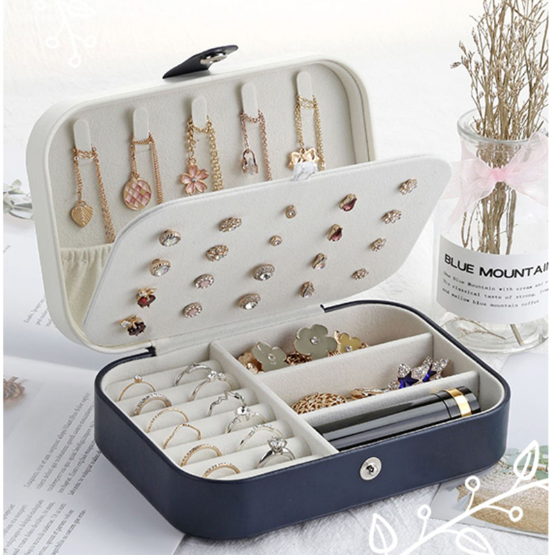 Jewelry-Box Necklace-Holder Casket Makeup-Organizer Bracele Gift Packaging Beauty Portable title=