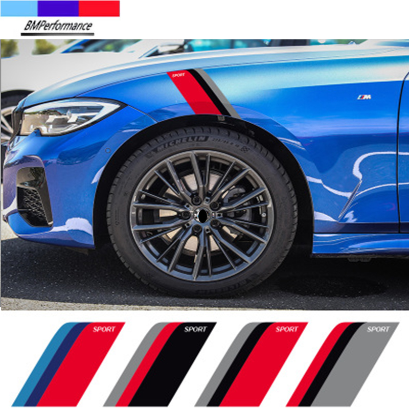 2 шт., автомобильные наклейки-бамперы для Bmw X5 E70 X6 E71 E72 G20 G30 G31 G38 G15 G32 G11 G12 G01 G02 G05 G06