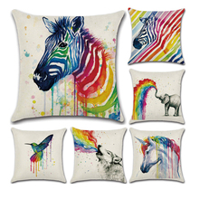 1Pc  Square Decorative Throw Pillow Covers Cotton and linen Set Cushion Case for Sofa Bedroom Car  45   x 45 cm,18 x 18 Inch цены
