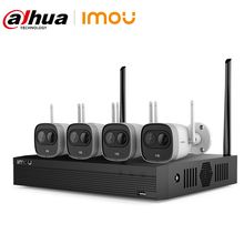 Dahua Imou 4CH 2MP NVR Kits Wireless CCTV Security System H.265 Outdoor PIR Detection WiFi IP Camera Video Surveillance Set
