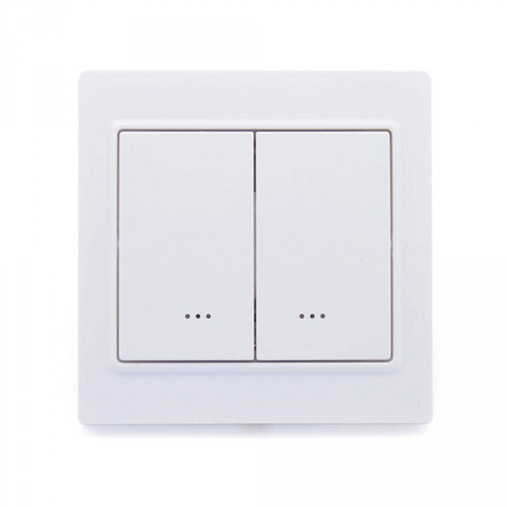 Z-Wave Smart Light Switch IN Wall Two Way 2 Gang  Switch EU Frequency ON/OFF Switch Compatiable Smartthings Vera Fibaro