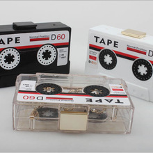 Bee In Fly Acrylic Handbag Transparent Tape Cassettes Evenin
