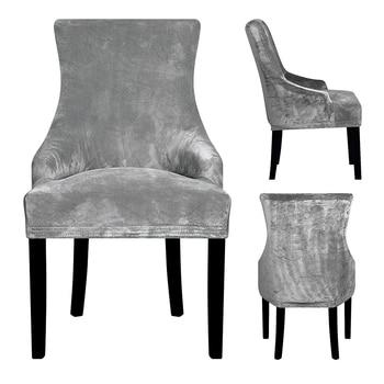 Cubierta de la silla del brazo inclinado de tela de terciopelo Real tamaño grande XL Wing bakc King cubiertas de la silla trasera fundas de asiento para el banquete de la fiesta del Hotel
