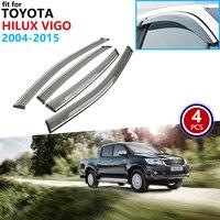 Für Toyota Hilux Vigo AN10 AN20 AN30 2004 ~ 2015 Fenster Visor Vent Markisen Regen Schutz Deflektor Heime Auto Zubehör 2005 2006-in Autoaufkleber aus Kraftfahrzeuge und Motorräder bei