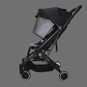 цена Baby Stroller 2 in 1 can sit or lie trolley Buggy baby stroller pram Portable Folding Stroller онлайн в 2017 году