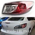 MZORANGE внешний задний фонарь для Mazda 3 BL 2009-2013 красный задний тормозной фонарь задний предупреждающий фонарь без лампы Задний фонарь в сборе