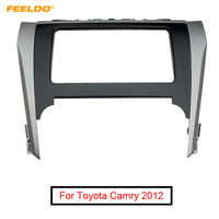 FEELDO Car Radio Audio Stereo 2DIN Fascia Frame For Toyota Camry 2012 Dash Panel Installation Trim Kit #FD4900