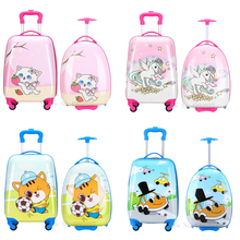 Travel-Suitcase Luggage-Bag Wheels Cabin Trolley Carry-Ons Kids Children Cartoon