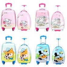 Детский чемодан для путешествий на колесиках с рисованным аниме